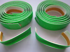 NOS 3TTT SYNTHETIC LEATHER HANDLEBAR TAPES FLUO GREEN - NO END PLUG