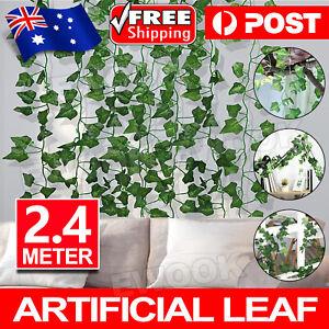 2.4M Artificial Ivy Vine Fake Foliage Flower Hanging Leaf Garland Plant Party