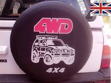"Soft Cover 28"" 29"" 30"" 4WD Spare Wheel Tyre Cover Black Waterproof 14"" 4x4 New,"