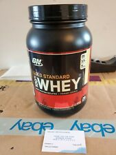 Gold Standard Whey ON100% Whey Protein 2 lb Optimum 2lb French Vanilla Opened