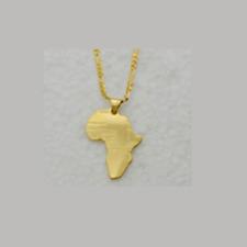 MAPPA color oro pendente dell'Africa