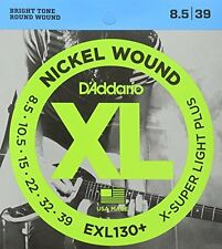 D'Addario Nickel Wound Electric Guitar Strings, Extra-Super Light Plus, 8.5-39
