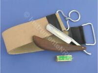 Rasiermesser-Set Holz-Goldätzung Abziehriemen mit Paste Solingen