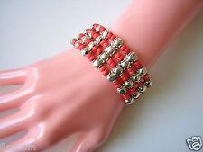 Antikes Korallenarmband Armband Koralle Beads 33,2 g Echt Silber geprüft Coral