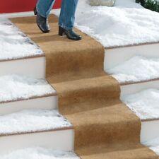 "10 Foot x 18"" Wide No Slip CoCo Fiber Outdoor Brown Carpet Porch Stair Runner"