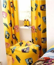 Lazy Town Sportacus Stephanie Yellow Kids Bedroom Curtains 66 x 54 OFFICIAL