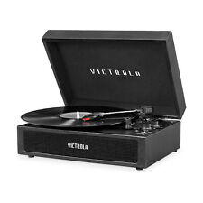 Victrola Vsc-580Bt-Blk Parker Bluetooth Portable Suitcase Record Player, Black