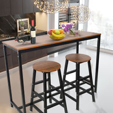 Pub Bar Wooden Table Home Office Rectangular Dining Table Kitchen Breakfast Nook