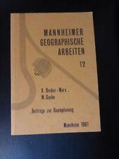 Mannheimer geographische Arbeiten 12 Beiträge zur Raumplanung