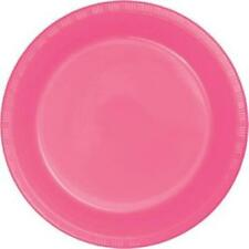 """Candy Pink 9"""" Plastic Plates 20 Per Pack Pink Party Decorations & Party Supplies"""