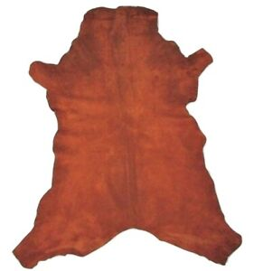Heavy 3.5 oz Chocolate Brown Suede Goatskin Leather Hide Plush Premium SUEDE