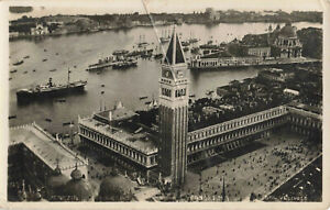 VENEZIA submarine Panorama, Italy Real Photo Vintage Postcard Unposted.
