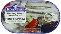 Rugen Fisch Herring Fillets in Horseradish Sauce 200g 7.05oz Can Free Shipping!