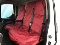IVECO DAILY 2006-2014 - VAN SEAT COVERS RED HEAVY DUTY WATERPROOF 2-1