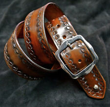 Leather Belt Custom Hand tooled Cowboy Gun Leather made for YOU in NYC! Matara
