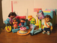 Dora the Explorer Lot of 15 Furniture Bed Lounge Chair Lamp Rug Grandma Dora