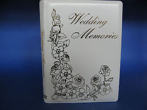 Wedding Memories DVD Album - Single DVD / CD Event Holder  (New)