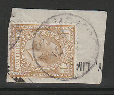GB USED IN ASCENSION 1912 1/- BISTRE SG Z51 FINE USED.