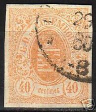 Luxembourg 1859 YV 11  large margins CANC VF