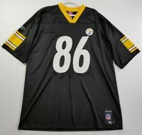 NFL Pittsburgh Steelers Hines Ward 86 Men Jersey Shirt XL Black Yellow Game Day