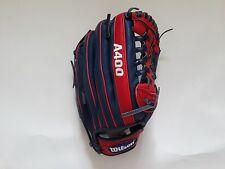"Wilson A400 Baseball Glove Mitt WTARGJKRCJW12 12"" RHT All Positions Youth"