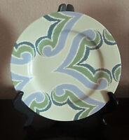 Oneida Porcelain Amber Green Salad Plates x1 Blue,Green & Lavender Scrolls