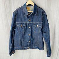 ZARA Mens Blue Denim SIZE XL Long Sleeve Jean Jacket M1