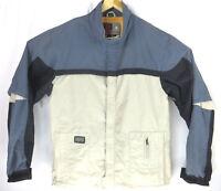 Burton Snowboarding Ronin Coat Medium Grey Black Orange Interior Hidden Pocket