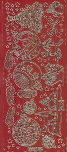 Zier-Sticker-Bogen-Weihnachtsmotive-verschiedene Farben-W 0190