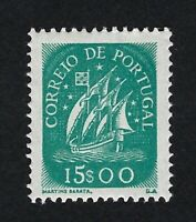 PORTUGAL 1943 CARAVELA 15$00 VERDE Nº 631 ** MNH