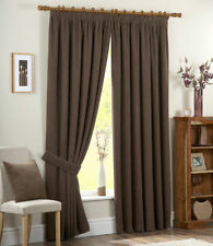 Chenille Tape Top Solid Pattern Curtains