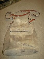 BEAUTIFUL, RARE Jose Luis Distressed Tan Leather Shoulder Bag with Stitching