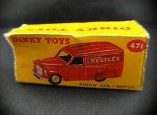 Boite seule Dinky Toys GB n° 471 Austin Van Nestlé Box only