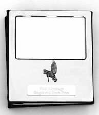 More details for kingfisher i f design silver personalised photo album free engraving  202