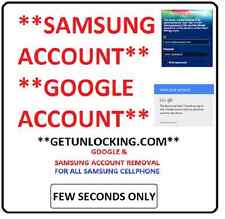 SAMSUNG ANY MOBILE *SAMSUNG ACCOUNT AND FRP GMAIL GOOGLE ACCOUNT* REMOVAL