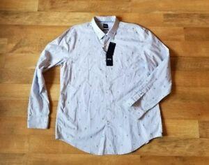 HUGO BOSS slim fit 2XL XXL Palm Tree Print Ronni_F shirt NEW WITH TAGS