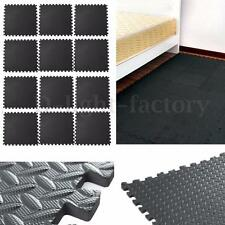 61x61cm EVA Foam Floor Interlocking Mat Show Floor Gym Mat Black NEW