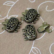 4 sets Filigree Box Clasps Antique Bronze Closure Jewellery clasp