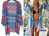 AU SELLER Oversize Cotton Kaftan Cardigan Open Top Beach Kimono Cover UP sw056-5