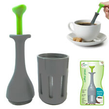1 French Press Coffee Maker Leaf Tea Portable Manual Brewer Single Serve Jokari