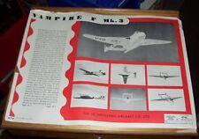 DE HAVILLAND VAMPIRE F Mk.3 AIRCRAFT AIR DIAGRAM AD 4746 JUNE 1948 RECOGNITION