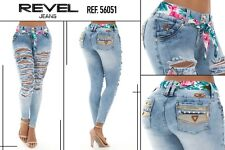 Women Revel sexy jeans levantacola butt lift  jeans push up colombiano size 7usa