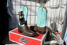 39-18 New Justin WOMENS 9.5C Bay Apache Aqua Cowhide western boots was 189.00