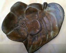 Estate Metal Pin Tray Or Ashtray Dogwood Blossom Marked Bryant 1920-30s