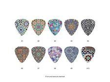 Moroccan Mosaic Tile Pattern Guitar Pick Set (10pcs)