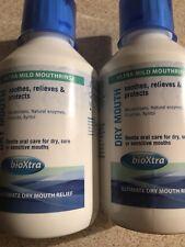 2 X 250ml BioXtra Dry Mouth Mouth rinse.
