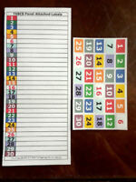 Color-Coded 30 Position Adhesive Circuit Breaker Box Electric Panel Label Set