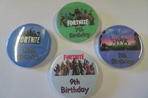 Birthday Badge Boy Or Girl Any Age Fortnite theme