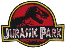 Large Jurassic Park Embroidered Logo Patch Badge Iron On / Sew On