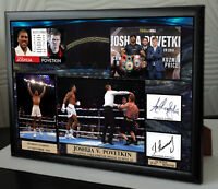 ANTHONY JOSHUA  POVETKIN WEMBLEY Framed Canvas Print Signed Great Gift-Souvenir